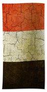 Grunge Yemen Flag Beach Towel