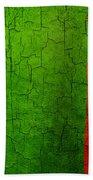 Grunge Zambia Flag Beach Towel