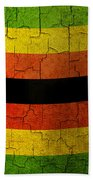 Grunge Zimbabwe Flag Beach Towel