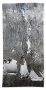 Grungy Concrete Wall Beach Towel