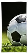 Grungy Grainy Soccer Ball E64 Beach Towel