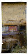 Grungy Vintage Ford Panel Truck Beach Towel