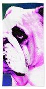 Grunt - Bulldog Pop Art By Sharon Cummings Beach Towel