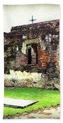Guatemalan Church Courtyard Ruins Beach Towel