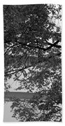 Guggenheim And Trees In Black And White Beach Towel