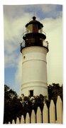 Guiding Light Of Key West Beach Sheet