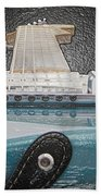 Guitar Art Beach Towel