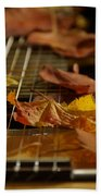 Guitar Autumn 2 Beach Towel