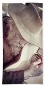 Guitar Man Beach Towel