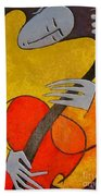 Guitar Player Beach Towel