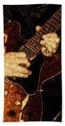 Guitar Tinted Copper Beach Towel