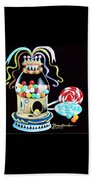 Gumball Machine And The Lollipops Beach Towel