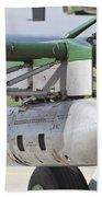 Gun Pod On A Slovakian Mi-17 Helicopter Beach Towel