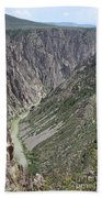 Gunnison River At The Base Of Black Canyon Of The Gunnison Beach Towel