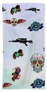 Guns And Roses  Beach Towel