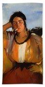 Gypsy With A Cigarette Beach Towel