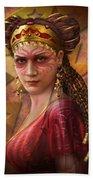 Gypsy Woman Beach Towel by Ciro Marchetti