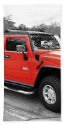 Red Hummer H2 Series  Beach Towel