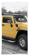 Hummer H2 Series Yellow Beach Towel