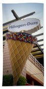 Haagen Dazs Ice Cream Signage Downtown Disneyland 01 Beach Towel