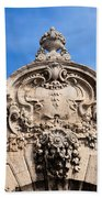 Habsburg Gate Details In Budapest Beach Towel