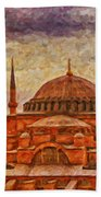 Hagia Sophia Digital Painting Beach Towel