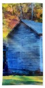 Hagood Mill With Sunrays Beach Sheet