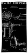 Hair Dryer 2 Patent Art 1911 Beach Towel