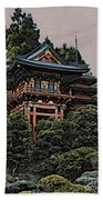Hakoni Tea House Beach Towel