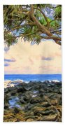 Hala Trees At Ka'anae Point Beach Towel