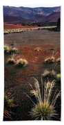 Haleakala - Red And Black Beach Towel