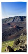 Haleakala Sunrise On The Summit Maui Hawaii - Kalahaku Overlook Beach Towel by Sharon Mau