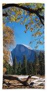 Half Dome In Yosemite Beach Towel
