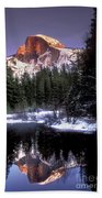 Half Dome Reflection Yosemite National Park California Beach Towel