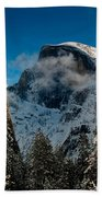 Half Dome Winter Beach Towel