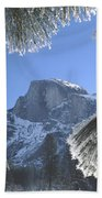 2m6757-halfdome In Winter Beach Towel