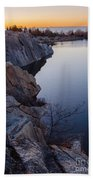 Halibut Point In Rockport Beach Towel