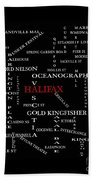 Halifax Nova Scotia Landmarks And Streets Beach Towel