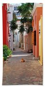 Halki Street Beach Towel