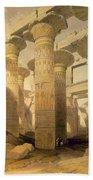 Hall Of Columns, Karnak, From Egypt Beach Towel by David Roberts