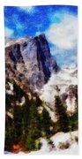Hallett Peak In Spring Beach Towel