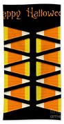 Halloween Candy Corn Beach Towel