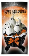 Halloween Ghost Cupcake 1 Beach Towel