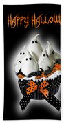 Halloween Ghost Cupcake 3 Beach Towel