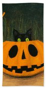 Halloween Kitty Boo Beach Towel