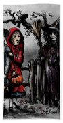 Halloween Night Beach Towel