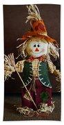 Halloween Scarecrow Beach Towel