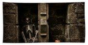 Halloween Skeleton Beach Towel