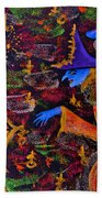 Halloween Witch Beach Towel