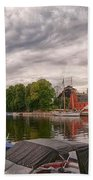 Halmstad Castle 01 Beach Towel
